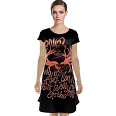 Panic At The Disco   Lying Is The Most Fun A Girl Have Without Taking Her Clothes Cap Sleeve Nightdress by Onesevenart