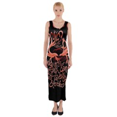 Panic At The Disco   Lying Is The Most Fun A Girl Have Without Taking Her Clothes Fitted Maxi Dress by Onesevenart