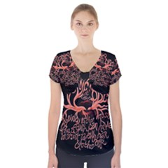 Panic At The Disco   Lying Is The Most Fun A Girl Have Without Taking Her Clothes Short Sleeve Front Detail Top by Onesevenart