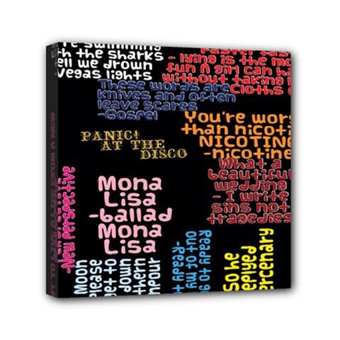 Panic At The Disco Northern Downpour Lyrics Metrolyrics Mini Canvas 6  X 6  by Onesevenart