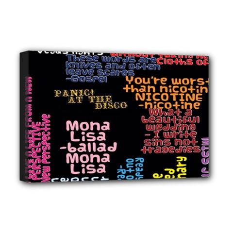 Panic At The Disco Northern Downpour Lyrics Metrolyrics Deluxe Canvas 18  X 12   by Onesevenart