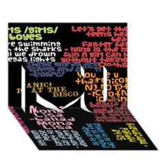 Panic At The Disco Northern Downpour Lyrics Metrolyrics I Love You 3d Greeting Card (7x5) by Onesevenart