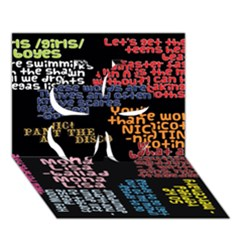 Panic At The Disco Northern Downpour Lyrics Metrolyrics Clover 3d Greeting Card (7x5) by Onesevenart