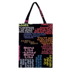 Panic At The Disco Northern Downpour Lyrics Metrolyrics Classic Tote Bag by Onesevenart