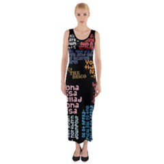 Panic At The Disco Northern Downpour Lyrics Metrolyrics Fitted Maxi Dress by Onesevenart