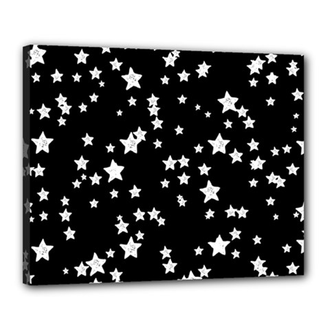 Black And White Starry Pattern Canvas 20  X 16  by DanaeStudio