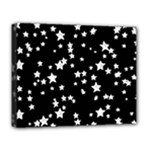 Black And White Starry Pattern Deluxe Canvas 20  x 16