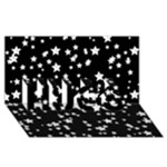 Black And White Starry Pattern HUGS 3D Greeting Card (8x4)