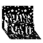 Black And White Starry Pattern THANK YOU 3D Greeting Card (7x5)