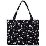 Black And White Starry Pattern Mini Tote Bag