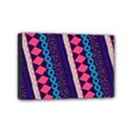 Purple And Pink Retro Geometric Pattern Mini Canvas 6  x 4