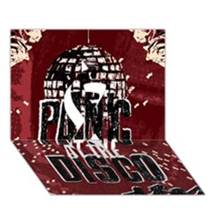 Panic At The Disco Poster Ribbon 3d Greeting Card (7x5) by Onesevenart
