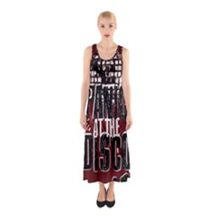 Panic At The Disco Poster Sleeveless Maxi Dress by Onesevenart