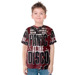 Panic At The Disco Poster Kids  Cotton Tee by Onesevenart