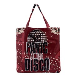 Panic At The Disco Poster Grocery Tote Bag by Onesevenart