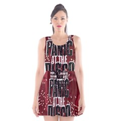 Panic At The Disco Poster Scoop Neck Skater Dress by Onesevenart
