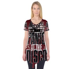Panic At The Disco Poster Short Sleeve Tunic  by Onesevenart