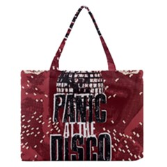 Panic At The Disco Poster Medium Zipper Tote Bag by Onesevenart