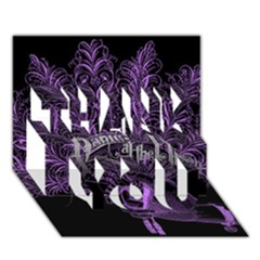 Panic At The Disco Thank You 3d Greeting Card (7x5) by Onesevenart