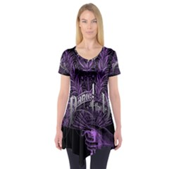 Panic At The Disco Short Sleeve Tunic  by Onesevenart