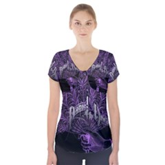 Panic At The Disco Short Sleeve Front Detail Top by Onesevenart
