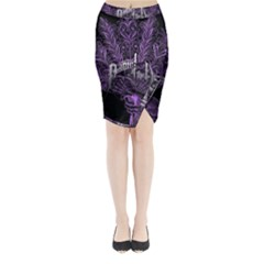 Panic At The Disco Midi Wrap Pencil Skirt by Onesevenart