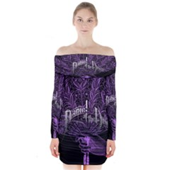 Panic At The Disco Long Sleeve Off Shoulder Dress by Onesevenart