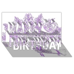 Panic At The Disco Happy Birthday 3d Greeting Card (8x4) by Onesevenart
