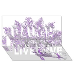Panic At The Disco Laugh Live Love 3d Greeting Card (8x4) by Onesevenart