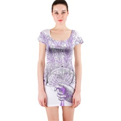 Panic At The Disco Short Sleeve Bodycon Dress by Onesevenart