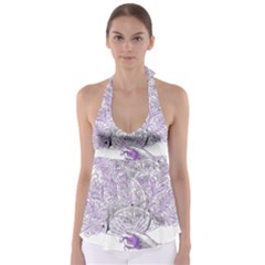 Panic At The Disco Babydoll Tankini Top by Onesevenart