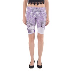 Panic At The Disco Yoga Cropped Leggings by Onesevenart