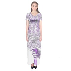Panic At The Disco Short Sleeve Maxi Dress by Onesevenart