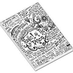 Panic! At The Disco Lyric Quotes Large Memo Pads by Onesevenart