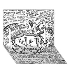 Panic! At The Disco Lyric Quotes I Love You 3d Greeting Card (7x5) by Onesevenart