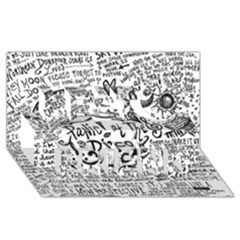 Panic! At The Disco Lyric Quotes Best Friends 3d Greeting Card (8x4) by Onesevenart