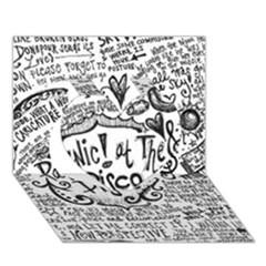 Panic! At The Disco Lyric Quotes Heart 3d Greeting Card (7x5) by Onesevenart