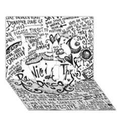 Panic! At The Disco Lyric Quotes Love 3d Greeting Card (7x5) by Onesevenart