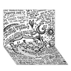 Panic! At The Disco Lyric Quotes Circle Bottom 3d Greeting Card (7x5) by Onesevenart