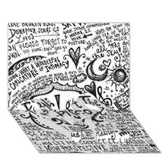 Panic! At The Disco Lyric Quotes Love Bottom 3d Greeting Card (7x5) by Onesevenart