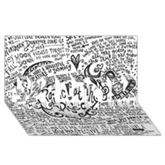 Panic! At The Disco Lyric Quotes #1 Mom 3d Greeting Cards (8x4) by Onesevenart