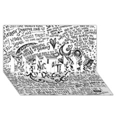 Panic! At The Disco Lyric Quotes Best Sis 3d Greeting Card (8x4) by Onesevenart