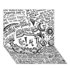 Panic! At The Disco Lyric Quotes Circle 3d Greeting Card (7x5) by Onesevenart