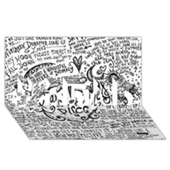 Panic! At The Disco Lyric Quotes #1 Dad 3d Greeting Card (8x4) by Onesevenart