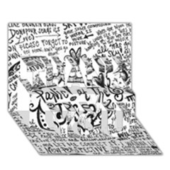 Panic! At The Disco Lyric Quotes Thank You 3d Greeting Card (7x5) by Onesevenart