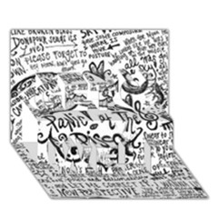 Panic! At The Disco Lyric Quotes Get Well 3d Greeting Card (7x5) by Onesevenart