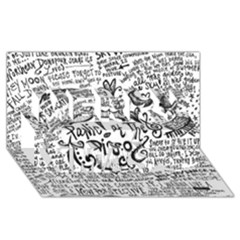 Panic! At The Disco Lyric Quotes Merry Xmas 3d Greeting Card (8x4) by Onesevenart