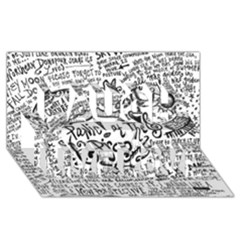 Panic! At The Disco Lyric Quotes Laugh Live Love 3d Greeting Card (8x4) by Onesevenart