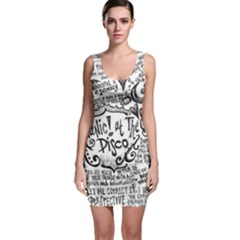 Panic! At The Disco Lyric Quotes Sleeveless Bodycon Dress by Onesevenart