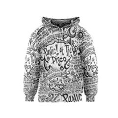 Panic! At The Disco Lyric Quotes Kids  Zipper Hoodie by Onesevenart